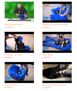 Vacuum Posture Cushions Applications