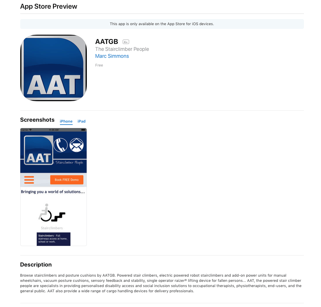 Download the AATGB App - For iOS on the Apple App Store