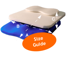 Comfortable Posture Cushion Size Guide